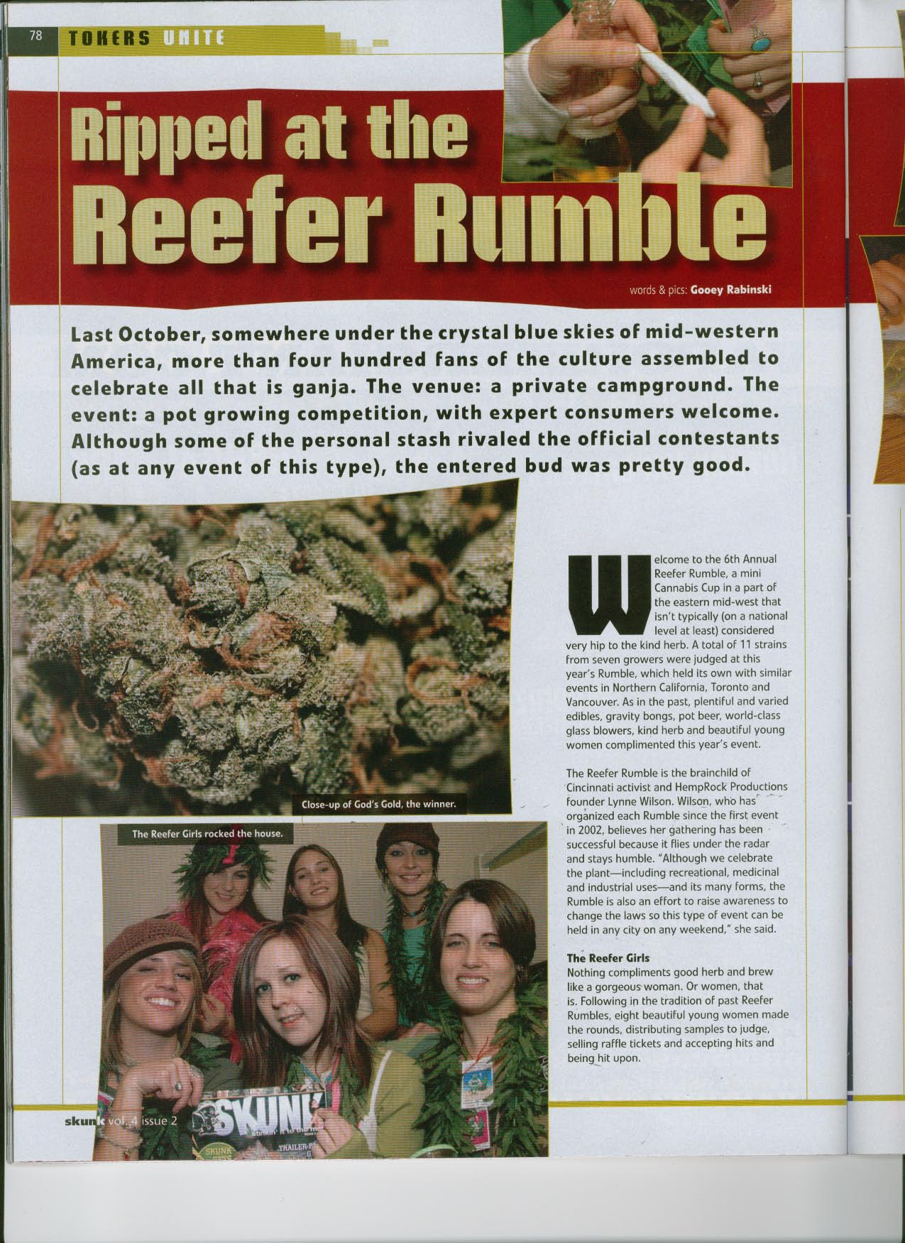 Skunk Magazine article