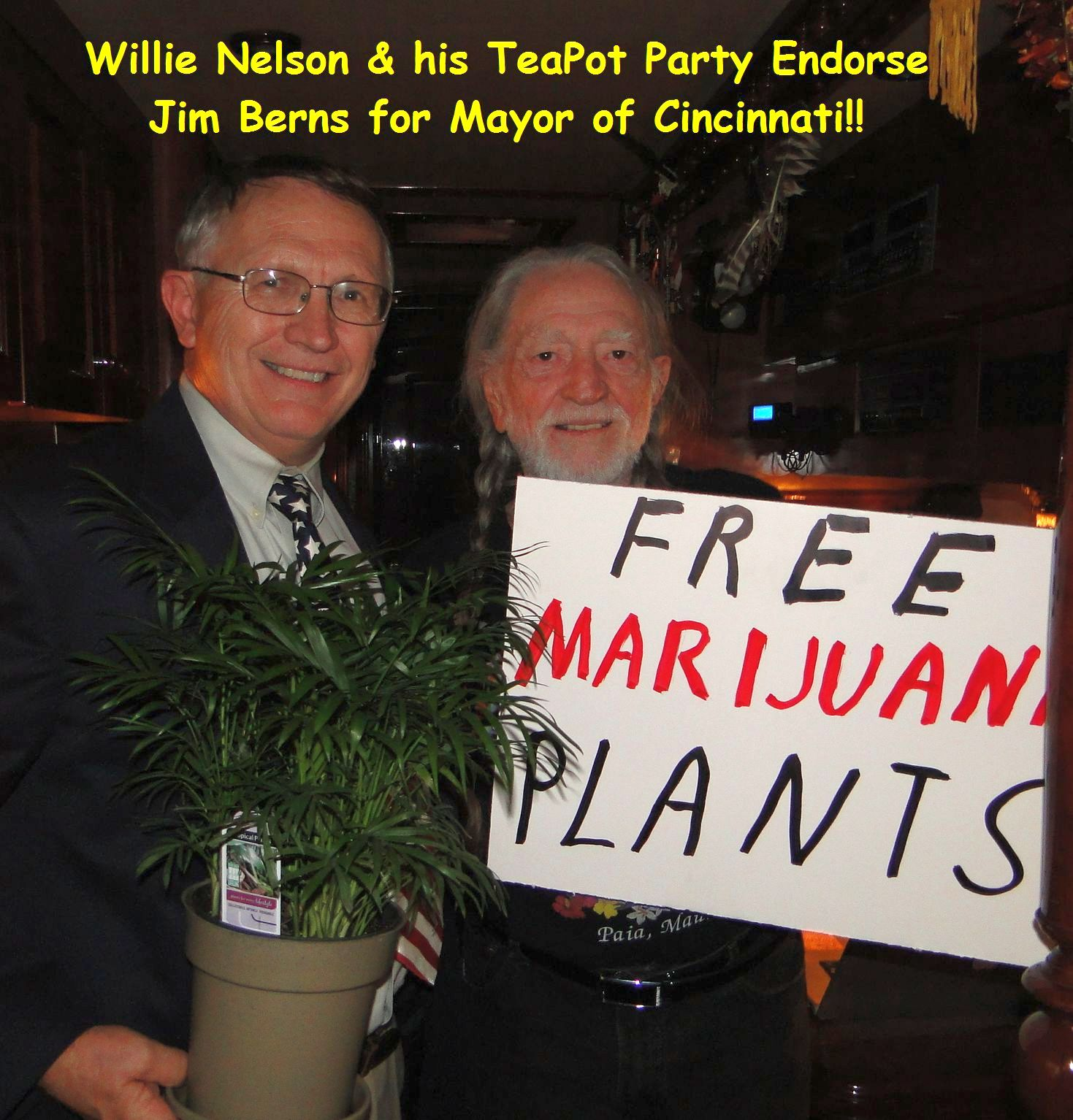 Willie Endorses Jim Berns for Mayor
